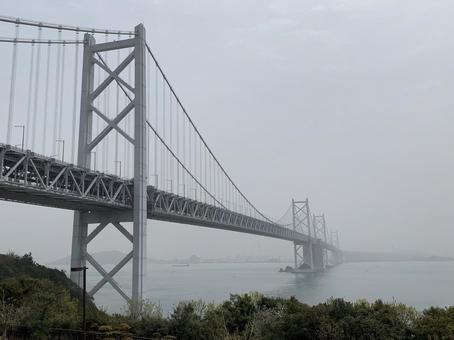 Seto Ohashi in the fog