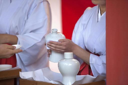Sake drinking sake