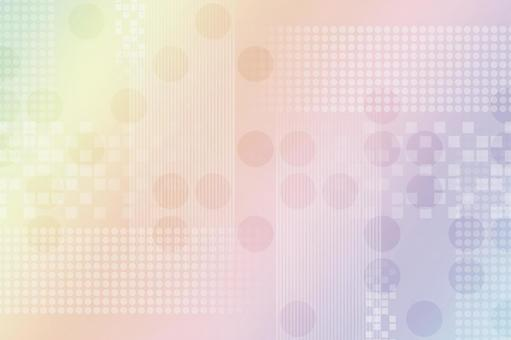 Rainbow image texture with continuous circles, squares and lines