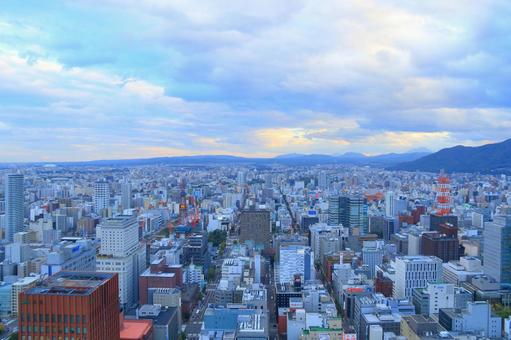 The streets of Sapporo seen from the JR Tower (Autumn) 2