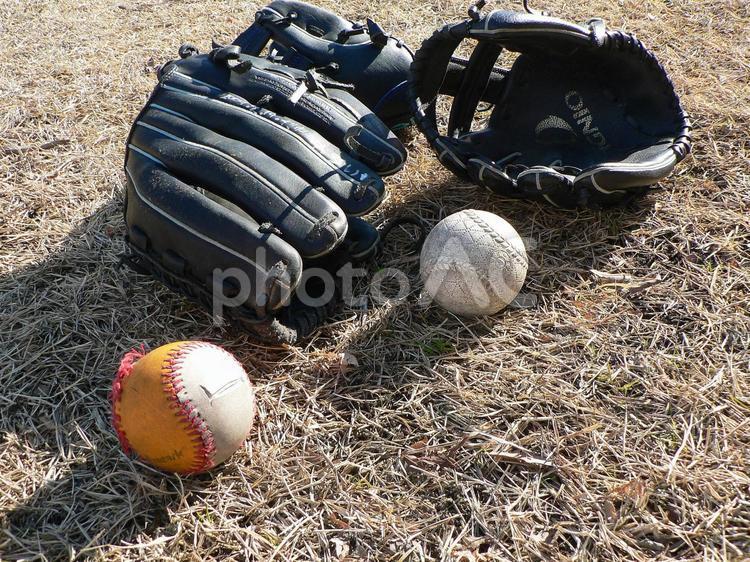 キャッチボールの写真