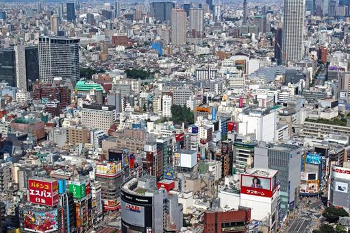 Tokyo Central Shinjuku Aerial Photo