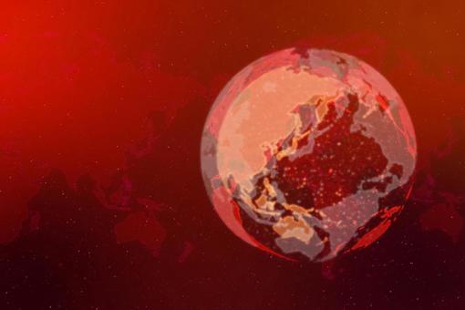빨간색 디지털 네트워크 이미지 배경