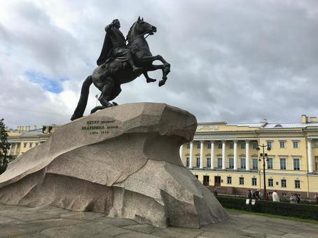 청동의 기사 상, 상트 페테르부르크, 러시아.