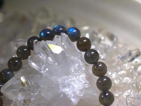 Power Stone Gray Moonstone Close-up