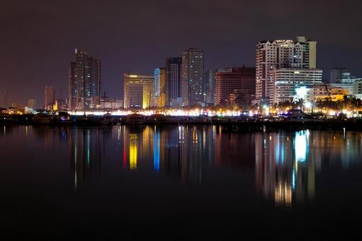 Night view of the Philippines