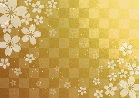 桜_金格子_background