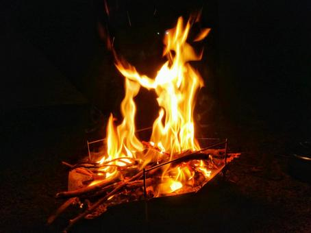 Bonfire in the dark
