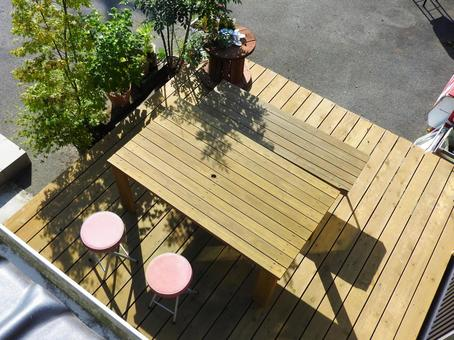 Life with wood deck