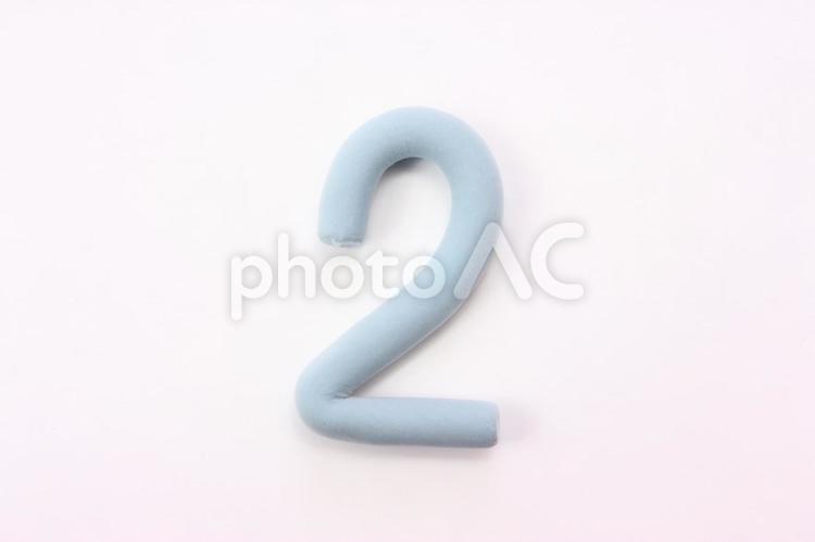 数字のクレイアート2の写真
