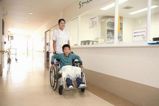 Nurse and wheelchair child 1