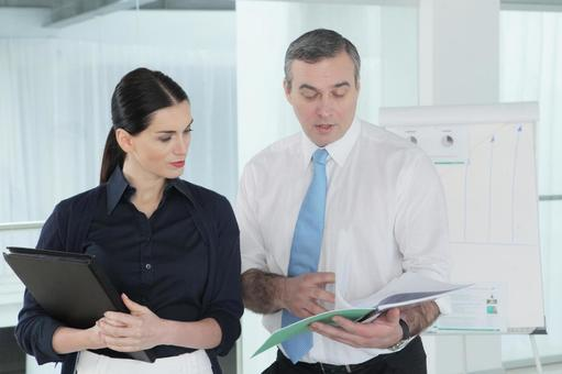 Business team to stand up and talk 12