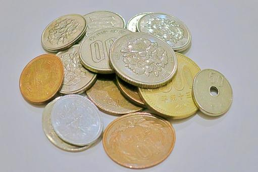 Small investment coins (fisheye lens photography) Free material