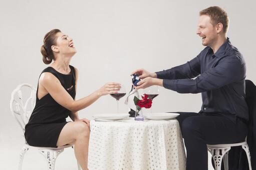 Couple drinking wine 13