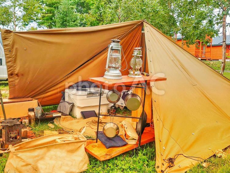 ソロキャンプベースの写真