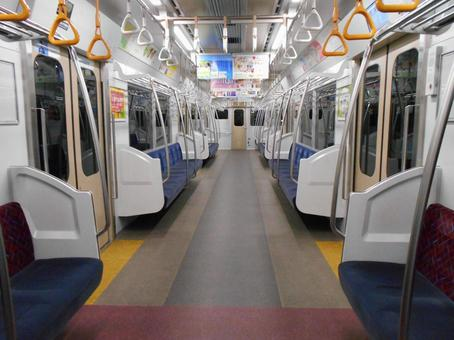 Inside an unmanned train