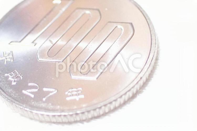100円玉の写真