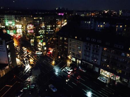 Night view of neon