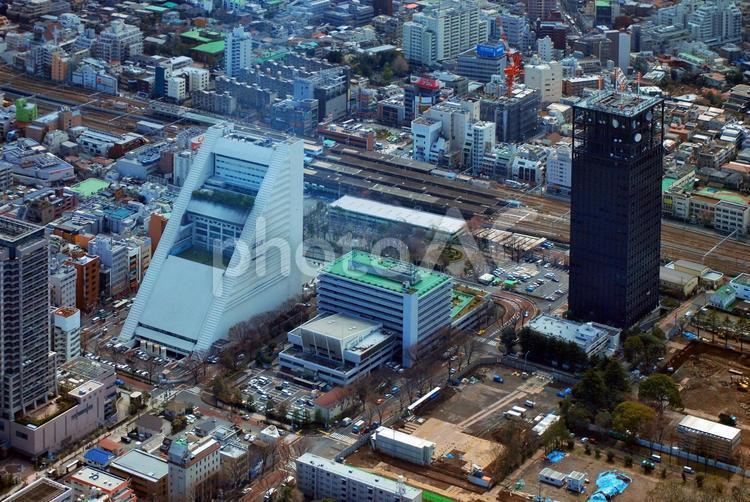中央線中の駅近辺の写真