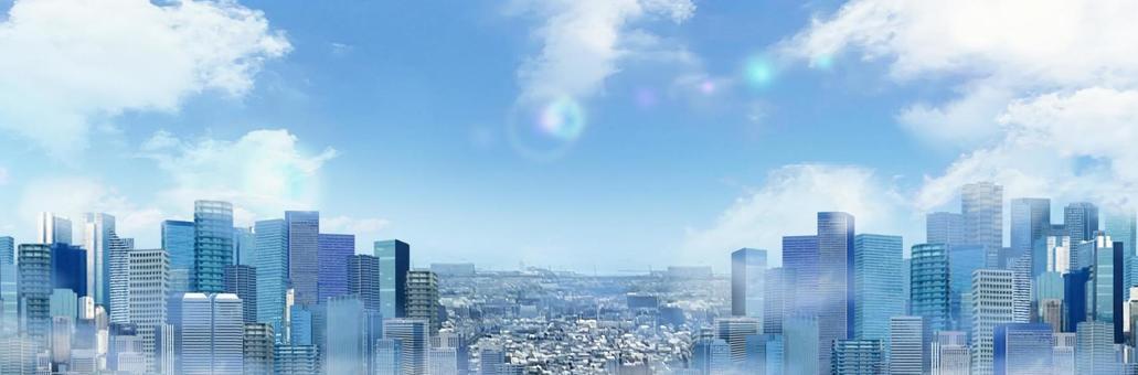 Skyscrapers in the city Cityscape image