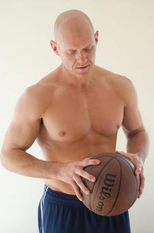 Male with basketball 13