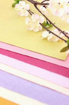 Washi and plum blossoms 1