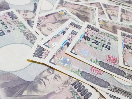 Background of a large amount of cash 10,000 yen bill 0514