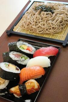 메밀 국수와 초밥