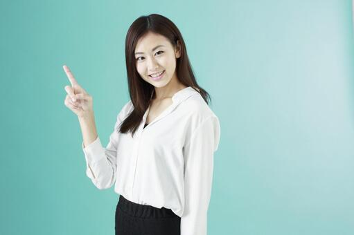 Pointing woman 1