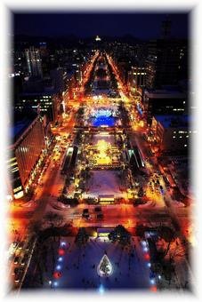 Sapporo Boulevard of White Illumination
