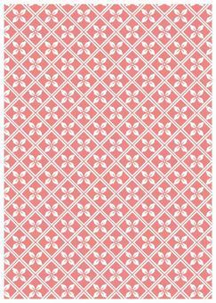 Japanese Pattern Texture Diamond shaped Flower Pink
