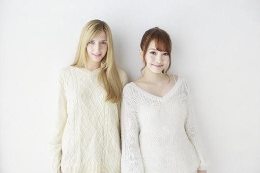 Female friend Foreigner and Japanese 23