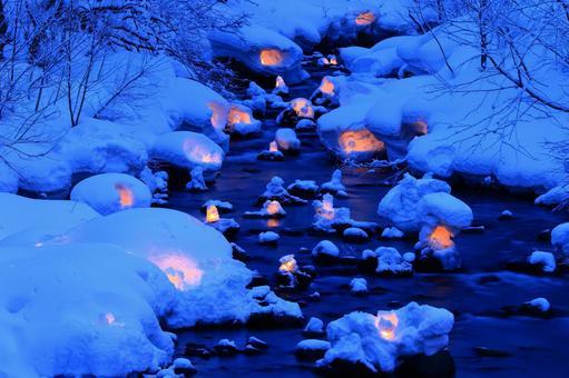 Otaru snow light path (Asuri River venue) 3