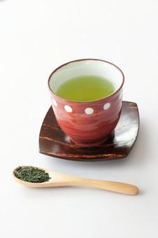 Green tea tea leaves