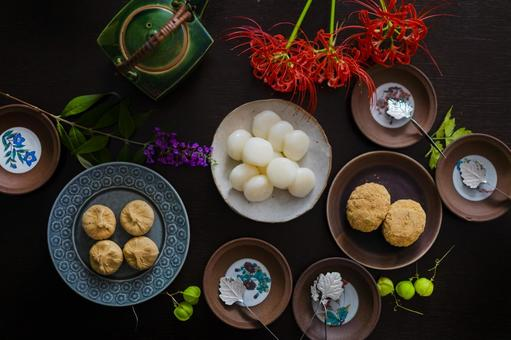 Autumn Japanese sweets _ plate