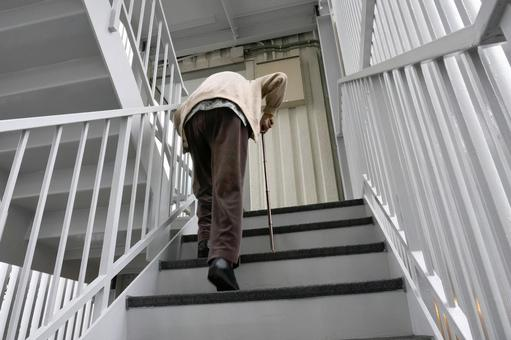 Elderly people and stairs