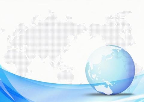 世界地圖和波背景