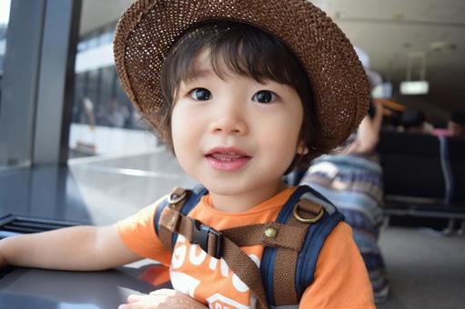 Straw hat child