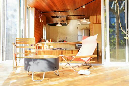 木甲板和廚房