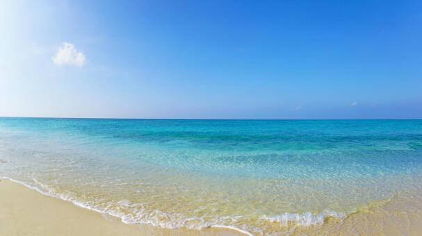Okinawa sea and sky Summer material Sea background