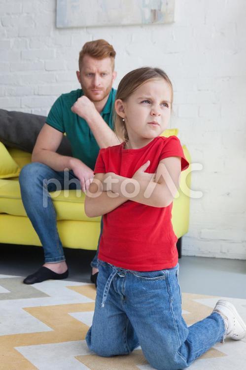 怒る娘とお父さん7の写真