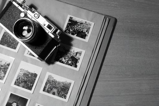 Old camera and album