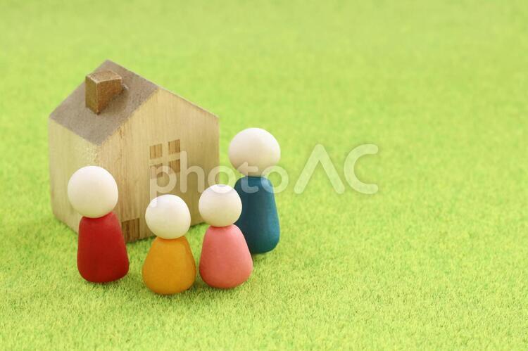 かわいい家族の人形2の写真