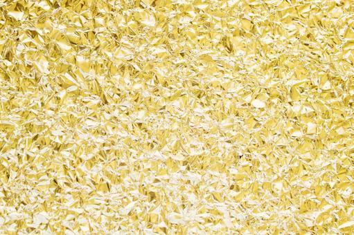 Wrinkled gold foil background material