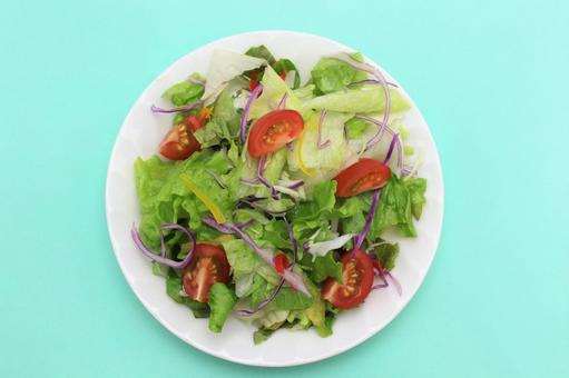 Vegetable salad health diet bird's eye view summer
