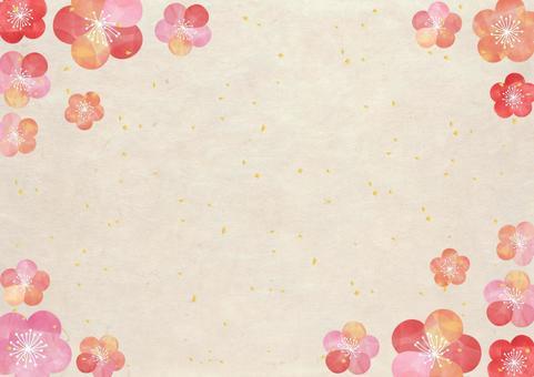 Plum _ Japanese paper _ background