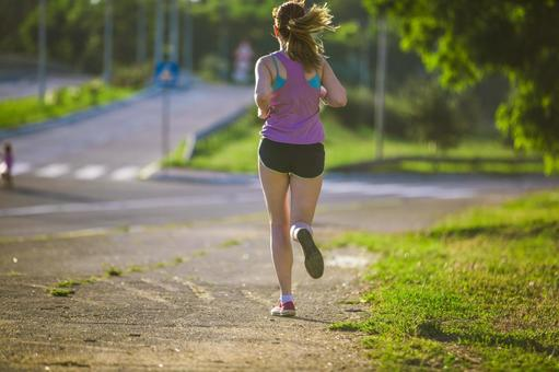 Female to jog at the park 51