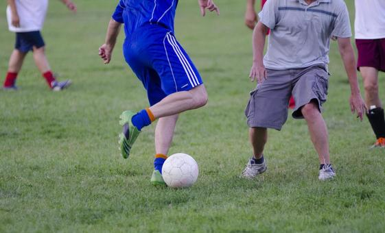 Landscape playing soccer 3