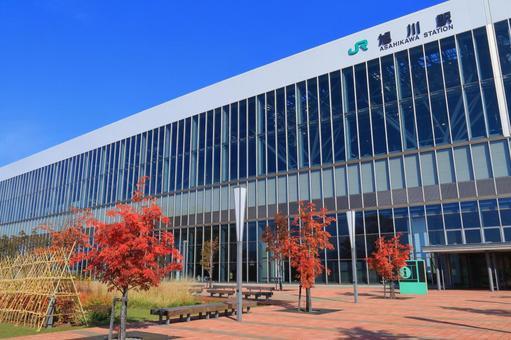 Asahikawa Station South Exit 4 in Autumn 4
