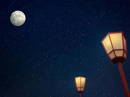 Lantern and full moon